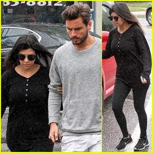Kourtney Kardashian & Scott Disick Step Out Together After Pregnancy News