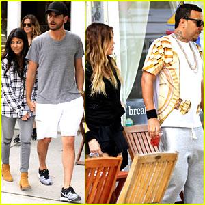 Kourtney & Khloe Kardashian Double Date with Their Men!