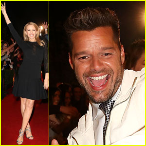 Kylie Minogue & Ricky Martin Arrive with Their Teams at 'The Voice' Australia Coldplay Cocktail Event!