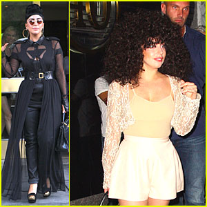 Lady Gaga Can't Stop Wearing Her Cool Wig!