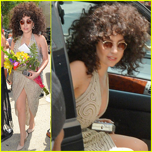 Lady Gaga Rocks Curly Hair for Rehearsals with Tony Bennett!