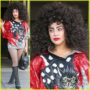 Lady Gaga Debuts Huge Curly Hair, Wears No Pants in NYC