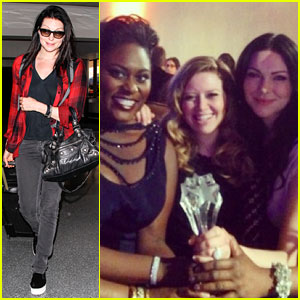 Laura Prepon Heads to the Airport After 'Orange is the New Black' Wins Critics' Choice Award!