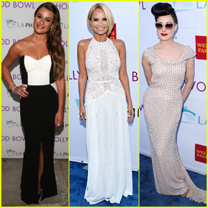 Lea Michele Sings with 'Glee' Co-Star Kristin Chenoweth at Hollywood Bowl Hall of Fame! (Video)