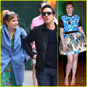 Lena Dunham Hangs Out with Pal B.J. Novak in New York!