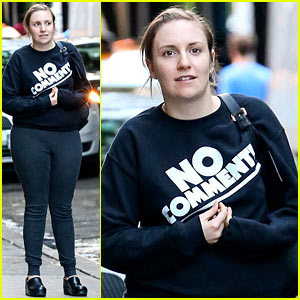 Lena Dunham Has 'No Comment' in New York City