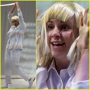 Lena dunham performs interpretive dance to sias chandelier on lena dunham performs interpretive dance to sias chandelier on late night watch now mozeypictures Image collections