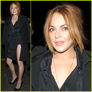 Lindsay Lohan Shows Off a Lot of Leg for a Night Out in London!