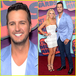 Luke Bryan Takes Wife Caroline to CMT Music Awards 2014!