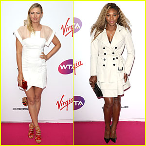 Maria Sharapova & Serena Williams Don Classic White at Pre-Wimbledon Party!