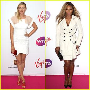 Maria Sharapova & Serena Williams Don Classic White at Pre-Wimbledon Party!