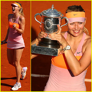 Maria Sharapova Wins Second French Open!