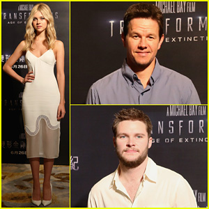 Mark Wahlberg & Nicola Peltz Tone It Down for 'Transformers 4' Hong Kong Photo Call!