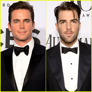 Matt Bomer & Zachary Quinto Hit the Red Carpet Before Presenting at the Tony Awards 2014