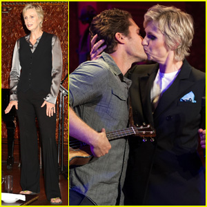 Matthew Morrison Kisses Jane Lynch On Stage for her Solo Concert Debut!