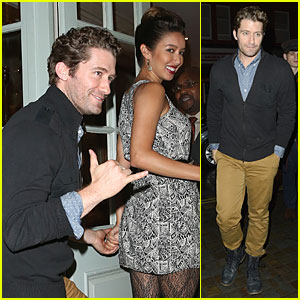 Matthew Morrison & Fiancee Renee Puente Get Romantic For Chiltern Firehouse Date!