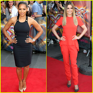 Mel B & Cheryl Cole Stun Before 'X Factor' London Auditions!