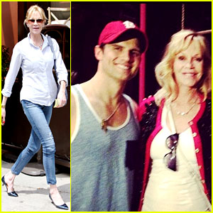 Melanie Griffith Greets 'Pippin' Hottie Kyle Dean Massey in NYC!