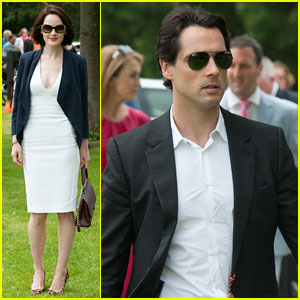 Michelle Dockery & Beau John Dineen Hold Hands at Polo Cup!