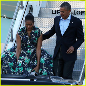 Michelle Obama Almost Has Wardrobe Malfunction at the Airport