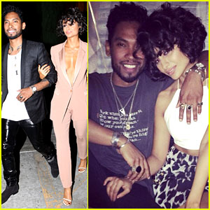Miguel's Girlfriend Nazanin Mandi Stakes Claim to His Crotch!