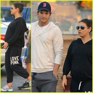 Mila Kunis Shows Off Growing Baby Bump on a Grocery Run with Ashton Kutcher!