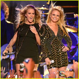 Miranda Lambert & Carrie Underwood Rock Out at CMT Music Awards 2014! (Video)
