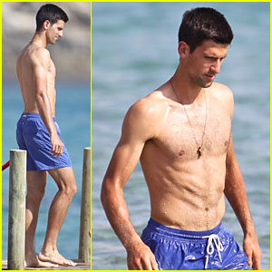 Novak Djokovic Enjoys Shirtless Vacation After French Open Defeat!