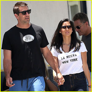 Olivia Munn with friendly, Boyfriend