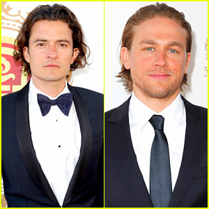Orlando Bloom & Charlie Hunnam Are Two Handsome Guys at Huading Film Awards 2014