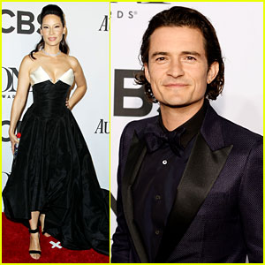 Orlando Bloom & Lucy Liu Present at Tony Awards 2014