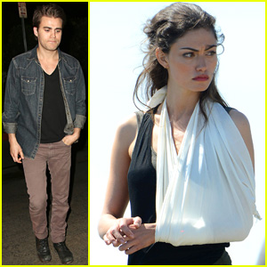 Paul Wesley Stays in L.A. While Girlfriend Phoebe Tonkin Films 'Take Down' in Wales