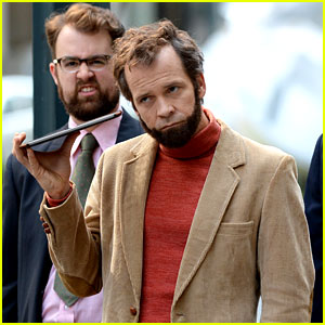 This Man Doesn't Seem Impressed to Be Pictured with Peter Sarsgaard