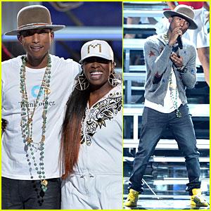 Pharrell Williams & Missy Elliott Open the BET Awards 2014! (Video)