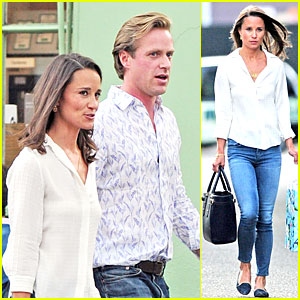Pippa Middleton Grabs Drinks With Pal Tom Kingston in London!