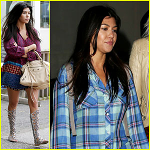 Pregnant Kourtney Kardashian Steps Out with Tiny Baby Bump