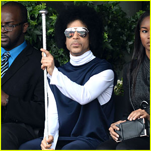 Prince Holds Court with His Scepter at the French Open!