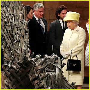 Queen Elizabeth Visits 'Game of Thrones' Set, Meets Cast Members Kit Harington, Lena Headey & More!