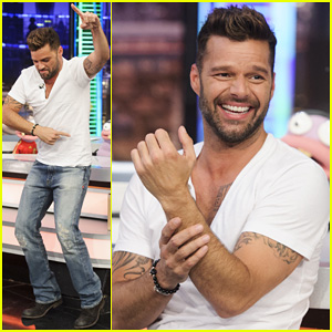 Ricky Martin Recreates 'Vida' Music Video on 'El Hormiguero'!