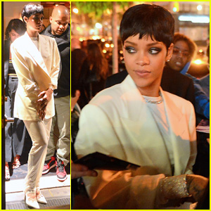 Rihanna Exchanges Her Completely Sheer Dress for a Pant Suit After CFDA Awards 2014!