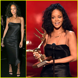 Rihanna Covers Up to Accept Her Most Desirable Woman Award