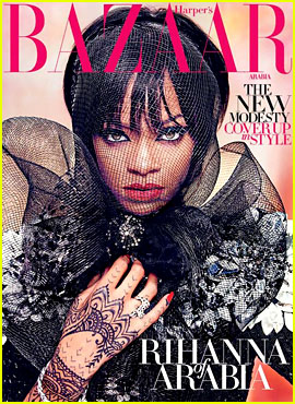 Rihanna Covers Up in Style for 'Harper's Bazaar Arabia'