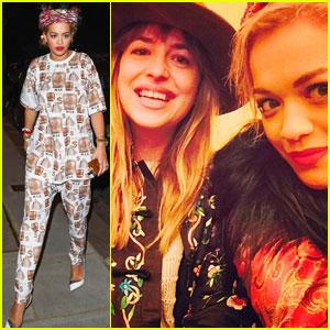 Rita Ora Has a 'Fifty Shades of Grey' Reunion with Dakota Johnson!