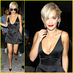 Rita Ora Shows Serious Cleavage After Calvin Harris Split!