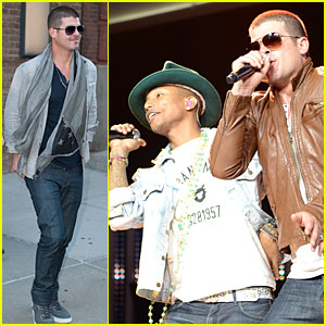 Robin Thicke & Pharrell Williams Show Support For Walmart!
