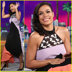 Rosario Dawson Meets Albino Alligator Family on 'The Tonight Show' - Watch Now!