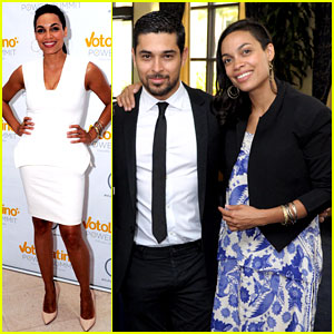 Rosario Dawson & Wilmer Valderrama Raise Awareness for Voto Latino in Miami!