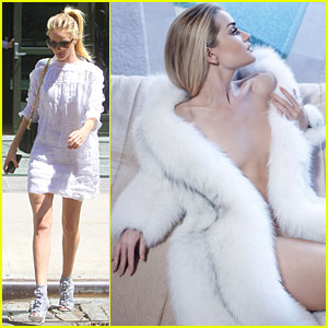 Rosie Huntington-Whiteley Really Heats It Up For 'Violet Grey'!