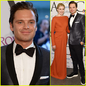 Sebastian Stan Looks Good on the Red Carpet at the CFDA Awards 2014!