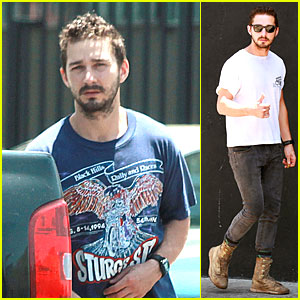 Shia LaBeouf Has the Sturgis Motorcycle Rally On His Mind at the Gym!